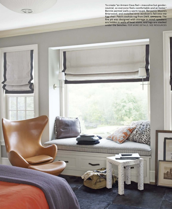 Cozy window seat © @housebeautiful