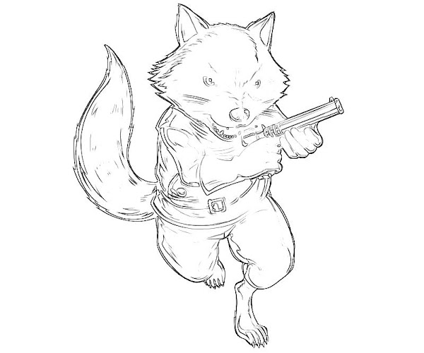 Raccoon Coloring Pages Free
