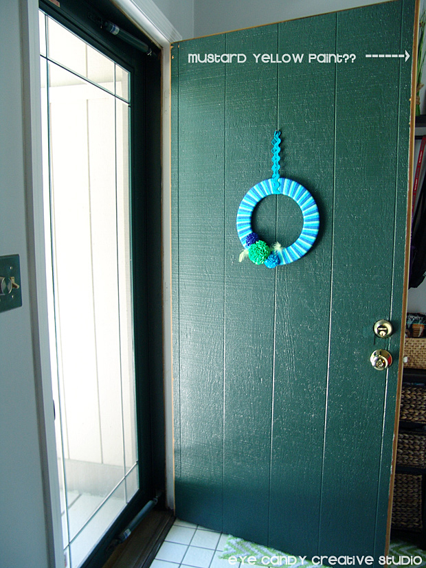 shot of front door before painting, modern masters paint