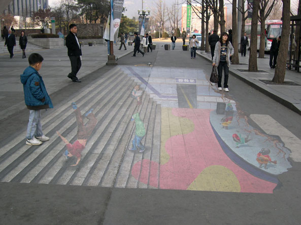 3d street painting more 3d paintings