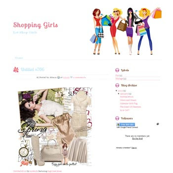 Shopping Girls blogger template. cute design blogger template. download online store template for blog