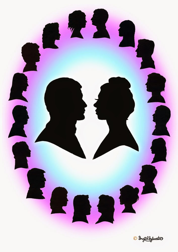 Wedding silhouettes Bride & Groom and guests in digital frame unusual North East Wedding Entertainment ideas Party Entertainment Christmas Party Entertainment Corporate Events Wedding Caricatures and Silhouettes Ingrid Sylvestre UK caricaturist & silhouette artist North East Newcastle upon Tyne Durham Sunderland Middlesbrough Teesside Northumberland Yorkshire