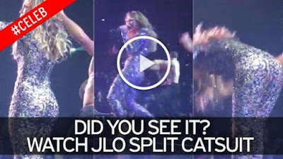 watch JLO split catsuit