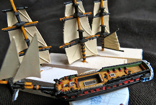 La Didon 36 (1803) by Langton Models - Painting Masts and Detail 1:1200, Age of Sail, French, Napoleonic, Naval