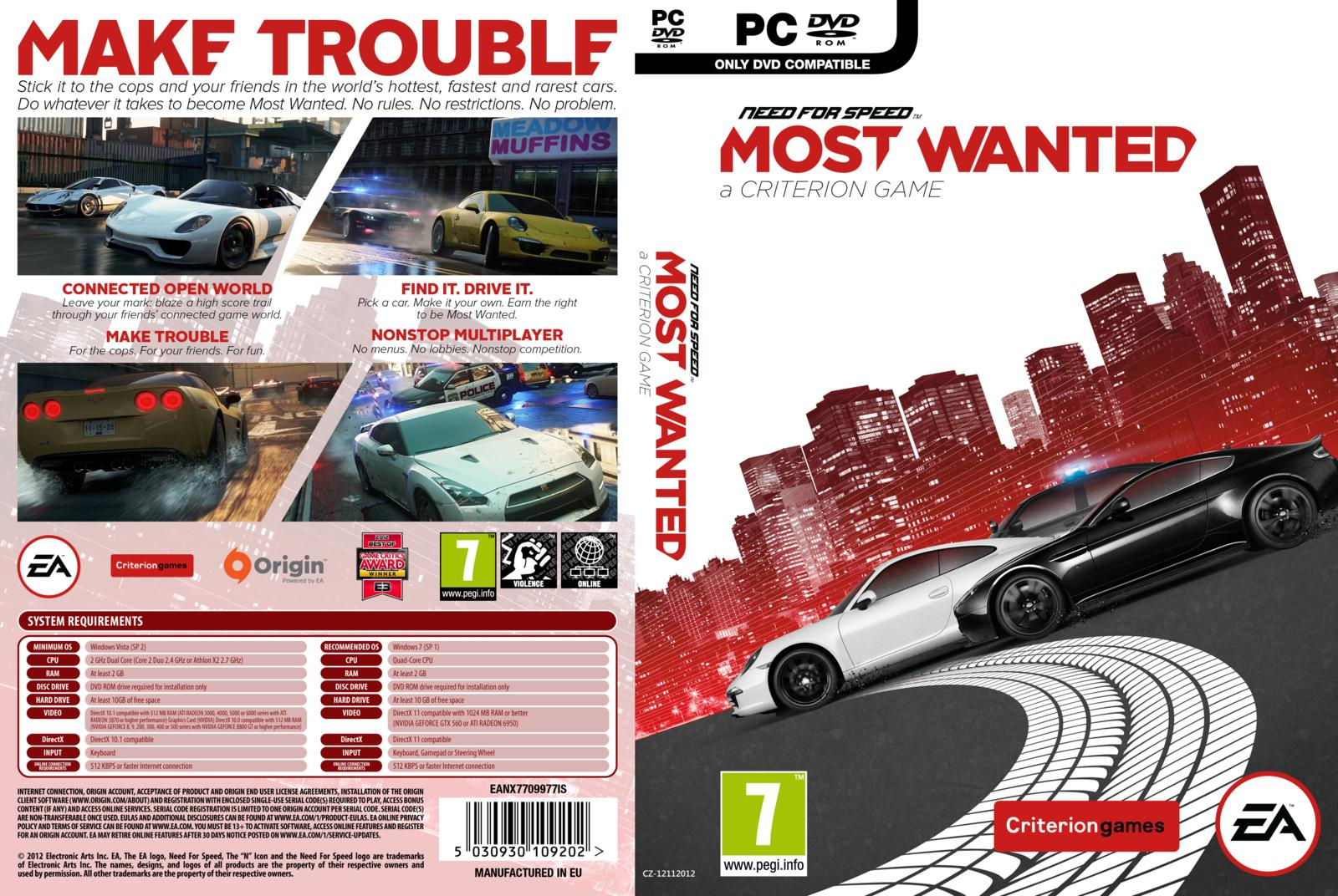 Capa need for speed most wanted pc gamecover capas Nfs most wanted para pc