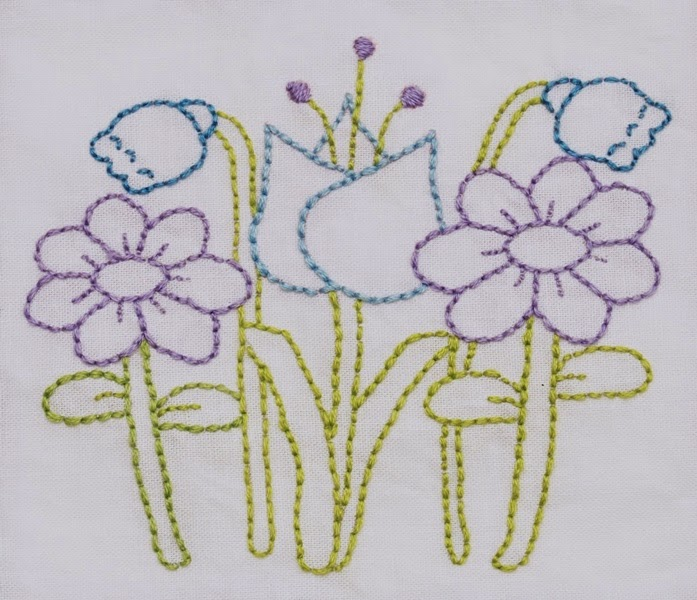Flowers embroidery designs many