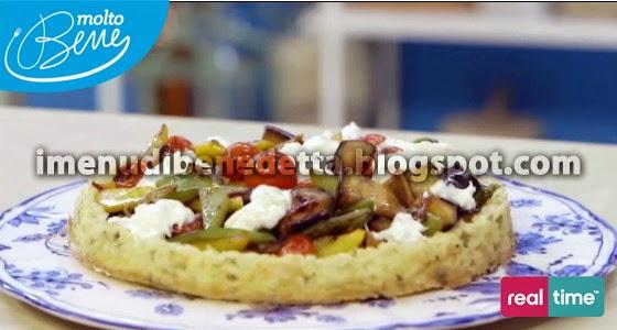 Crostata con Verdure e Burrata di Benedetta Parodi