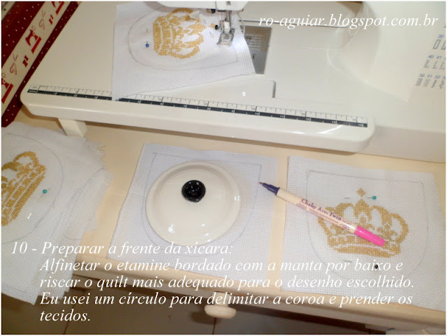 convite chá-de-fraldas original, lindo, bordado com PAP