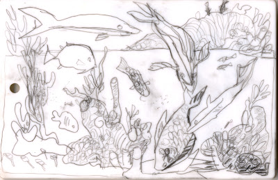 Fish underwater drawing for Fish scenery drawing