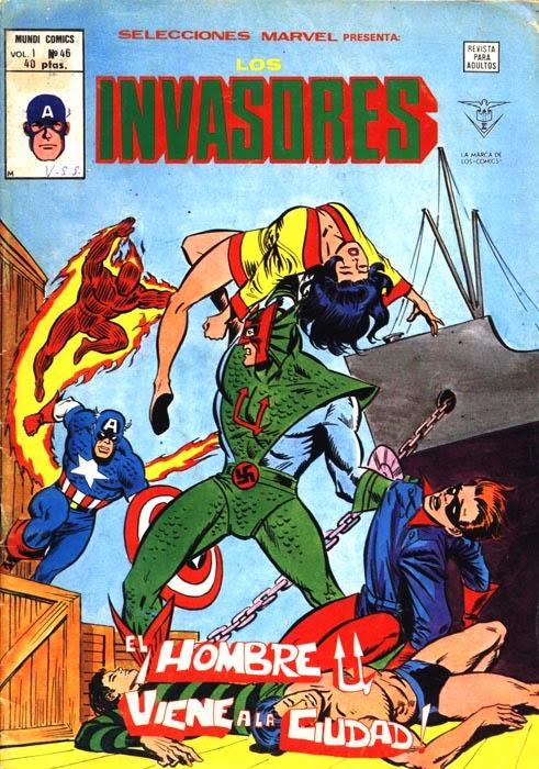 Portada de Invasores-Selecciones Marvel Volumen 1 Nº 46 Ediciones Vértice