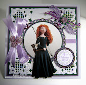 4th Birthday card - Merida from Brave