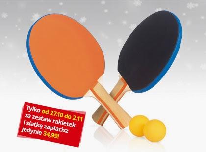 Zestaw 2 rakietek do tenisa stołowego z Biedronki
