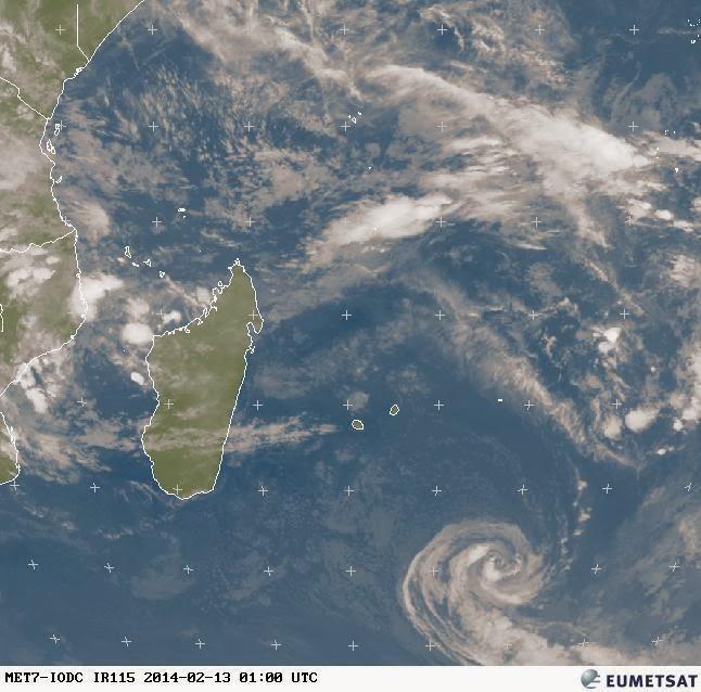 Image satellite de la dépression subtropicale Fobane