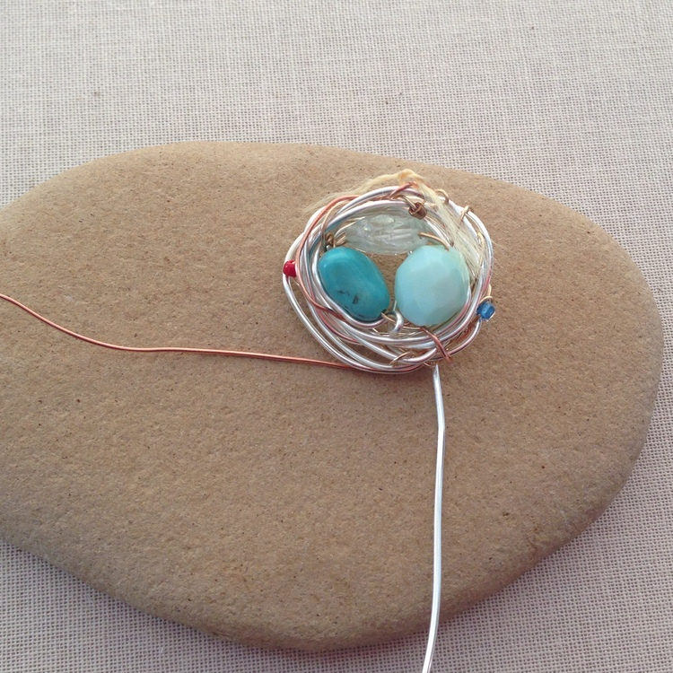 Mother's Day Jewelry: DIY Birthstone Nest, free tutorial