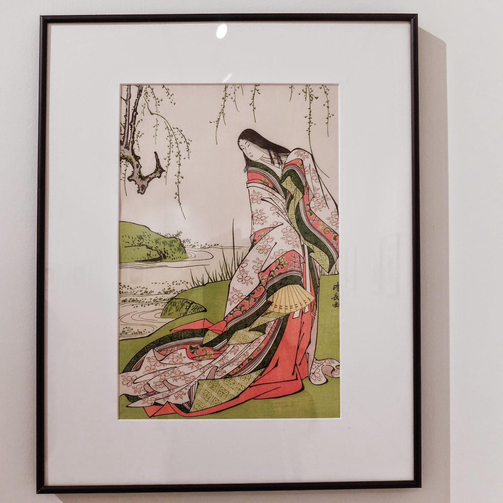 Ukiyoe Portraits exhibit - The courtlady Ono no Komachi by Kiyonaga Torii
