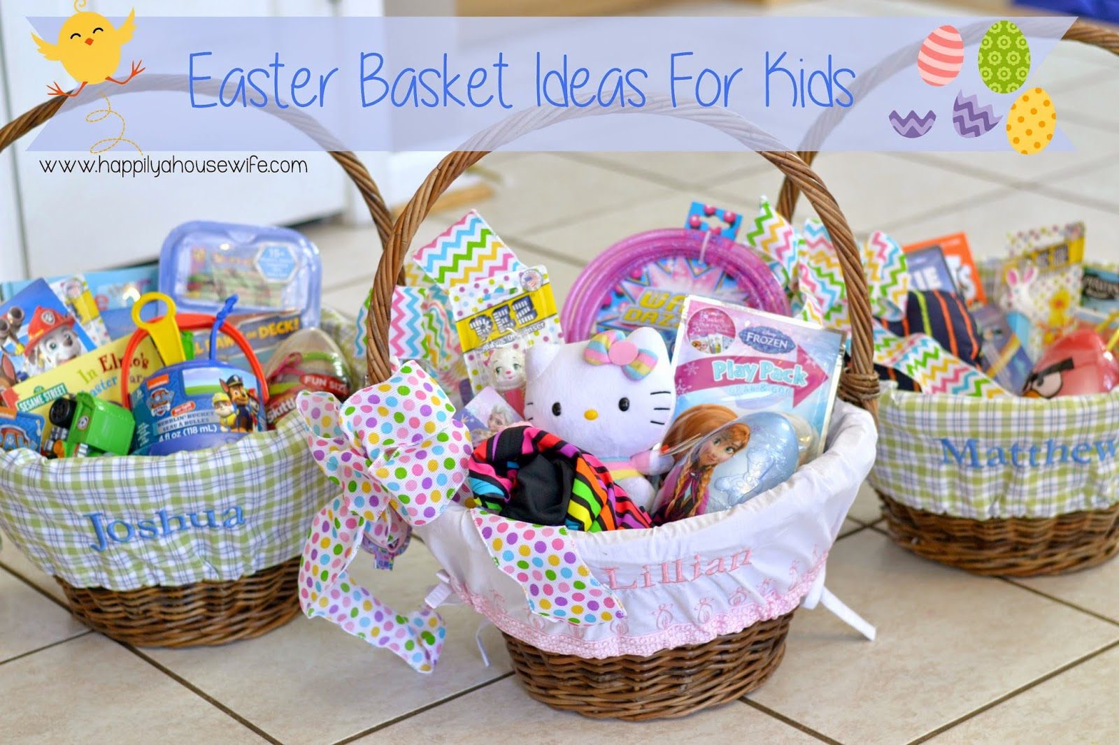 Happily a housewife easter basket ideas for kids easter basket ideas for kids negle Choice Image