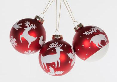 Deco bolas navidad rojas