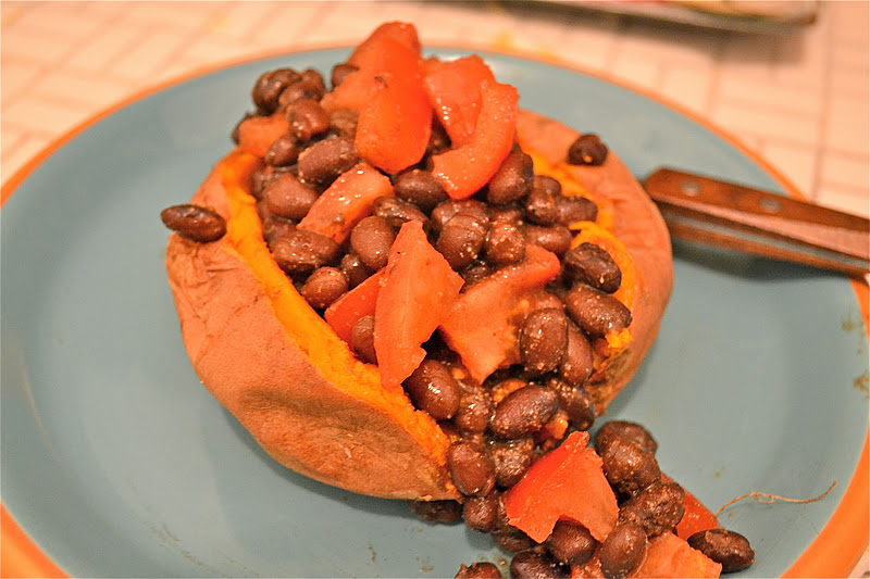 ... sweet smothered sweet potato and white bean smothered sweet black bean