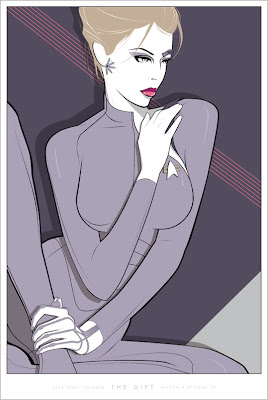 "Star Trek Screen Print Series - Star Trek: Voyager ""Seven of Nine - The Gift"" Screen Print by Craig Drake"