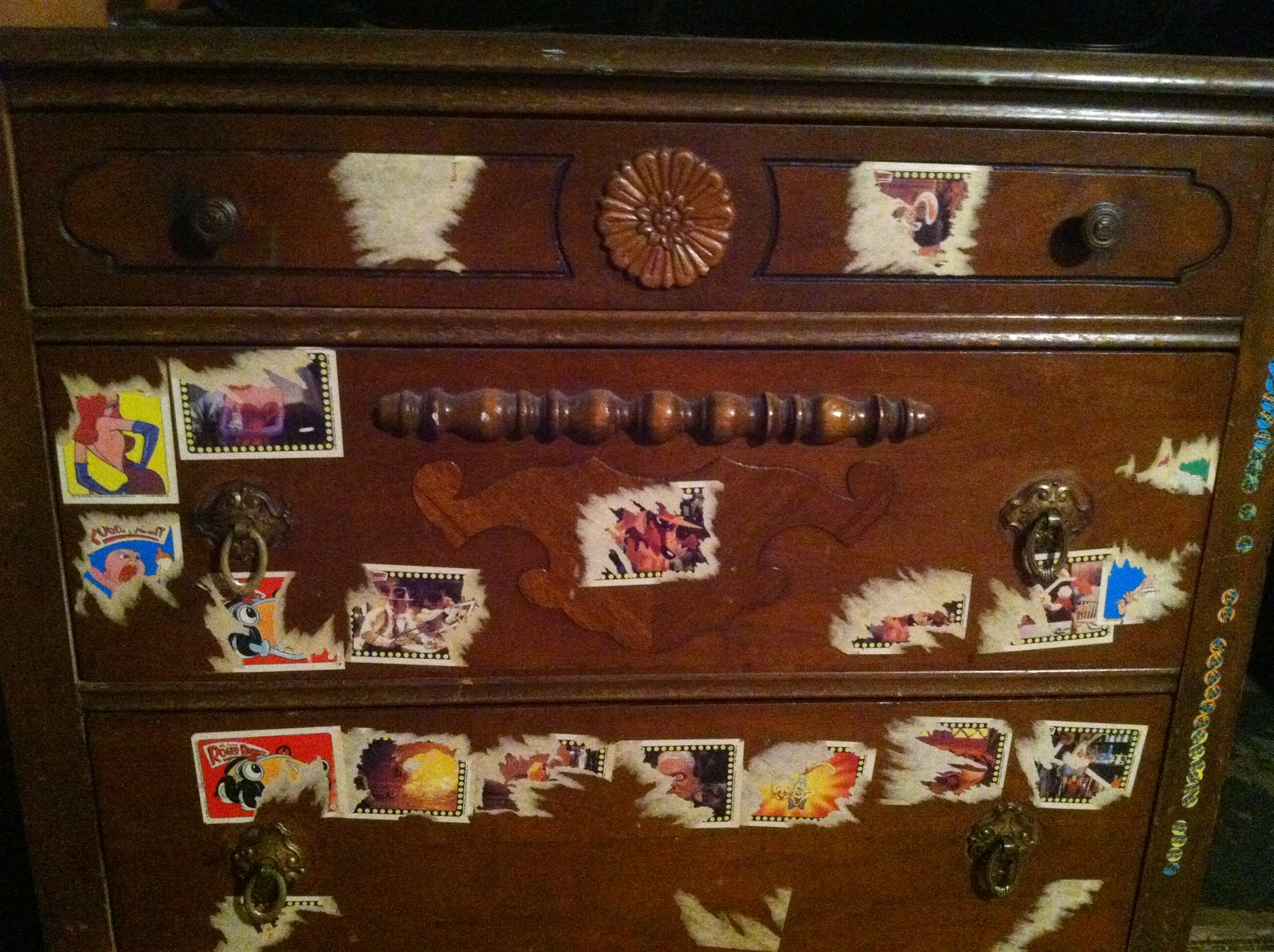 I Don T Remember What Inspired Me But Decided To Cover My Dresser With Stickers