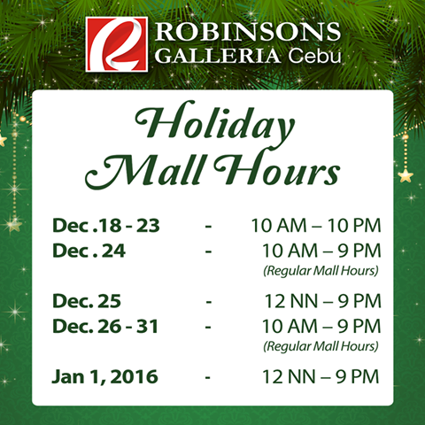 Holiday_Mall_Hours_Robinsons_Galleria_Cebu