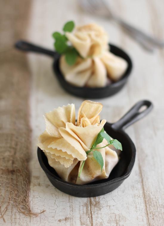 Caramel Apple-Brie Crêpe Parcels