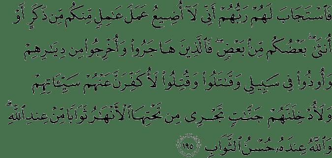Surat Ali Imran Ayat 195