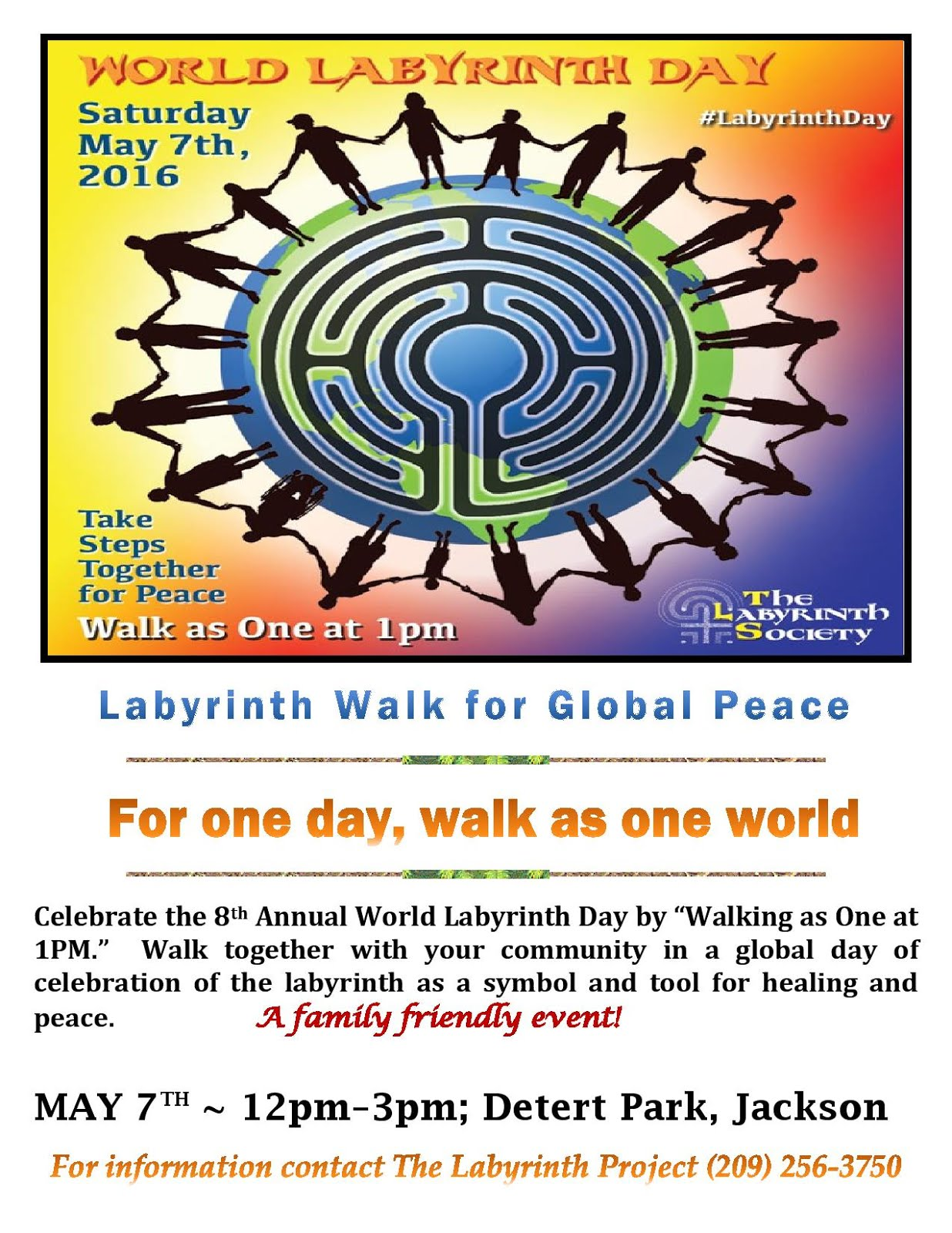 World Labyrinth Day in Amador - Sat May 7