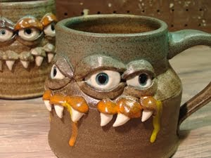 monster mug photo bomb