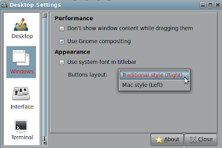 windows button right to left in Linux Mint Mate