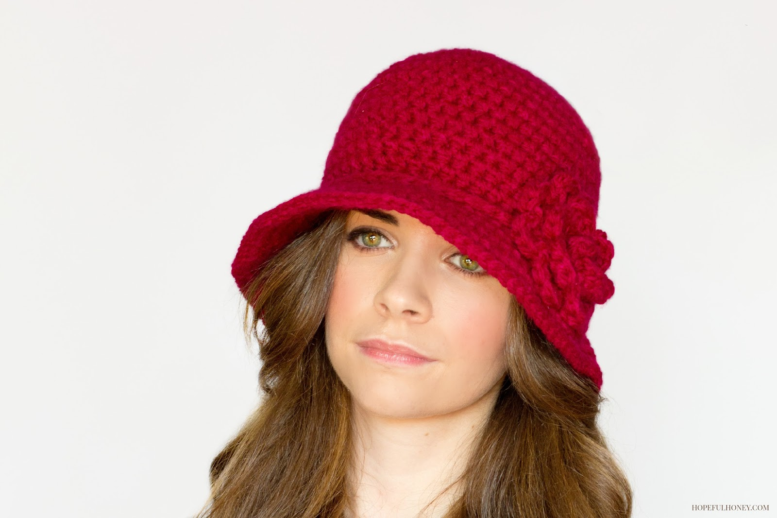 Crochet Patterns Hats : ... Honey Craft, Crochet, Create: 1920s Cloche Hat Crochet Pattern