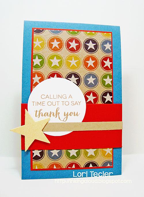 Calling a Time Out to Say Thank You card-designed by Lori Tecler/Inking Aloud-stamps and dies from Clear and Simple Stamps