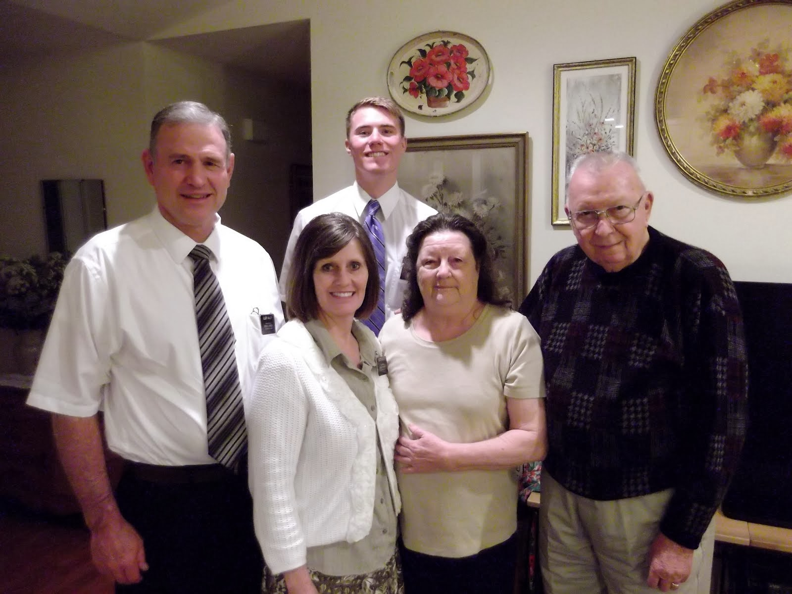 Elder & Sister Bailey and the Thomas' with Elder Foster