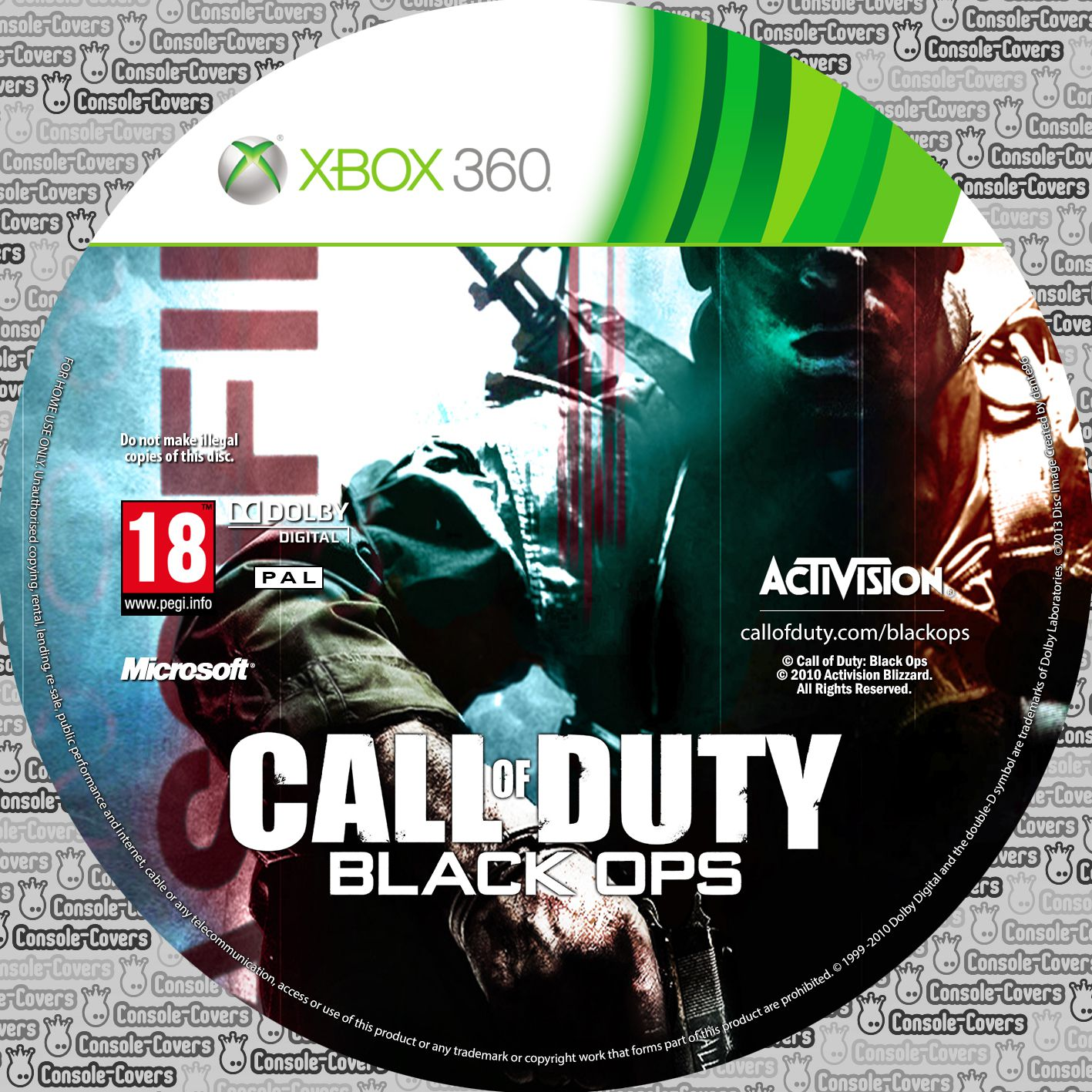 Label Call Of Duty Black Ops Xbox 360