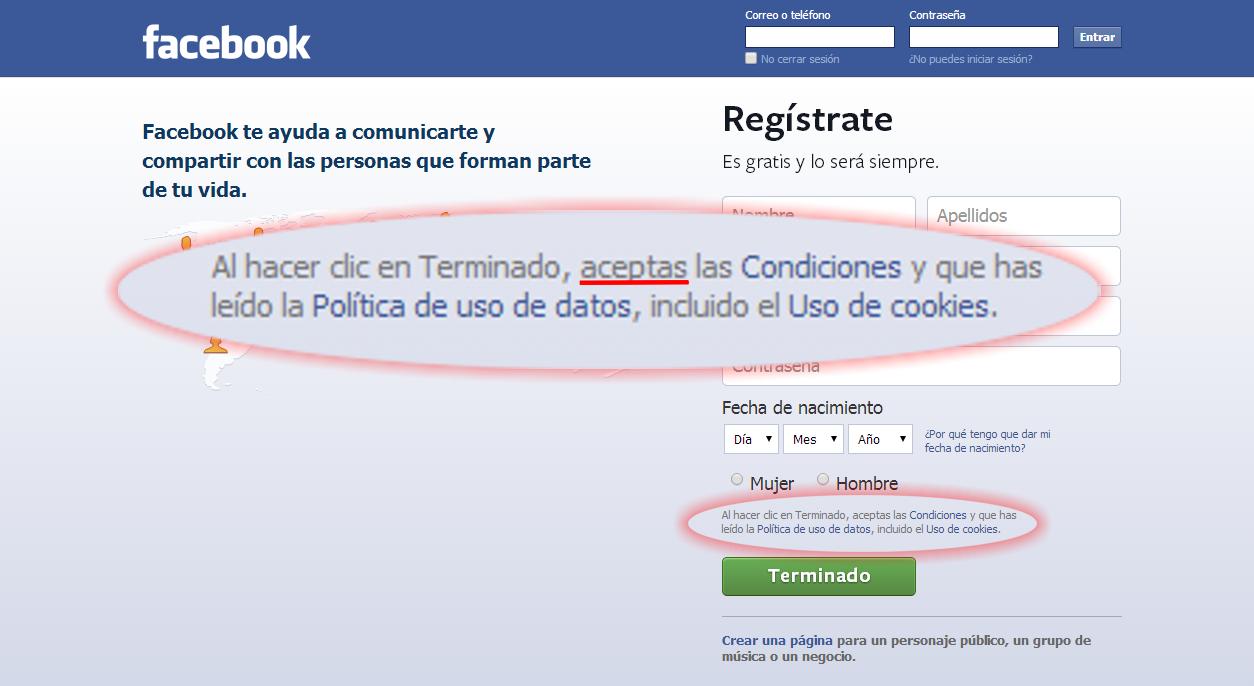 Condiciones de Facebook