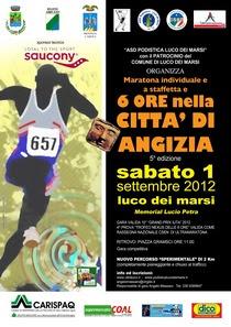 Sei ore e Maratona nella Città di Angizia, 1 settembre 2012