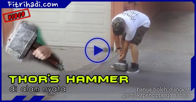Video Thor Hammer Ini Hanya Boleh Diangkat Pemiliknya Sahaja