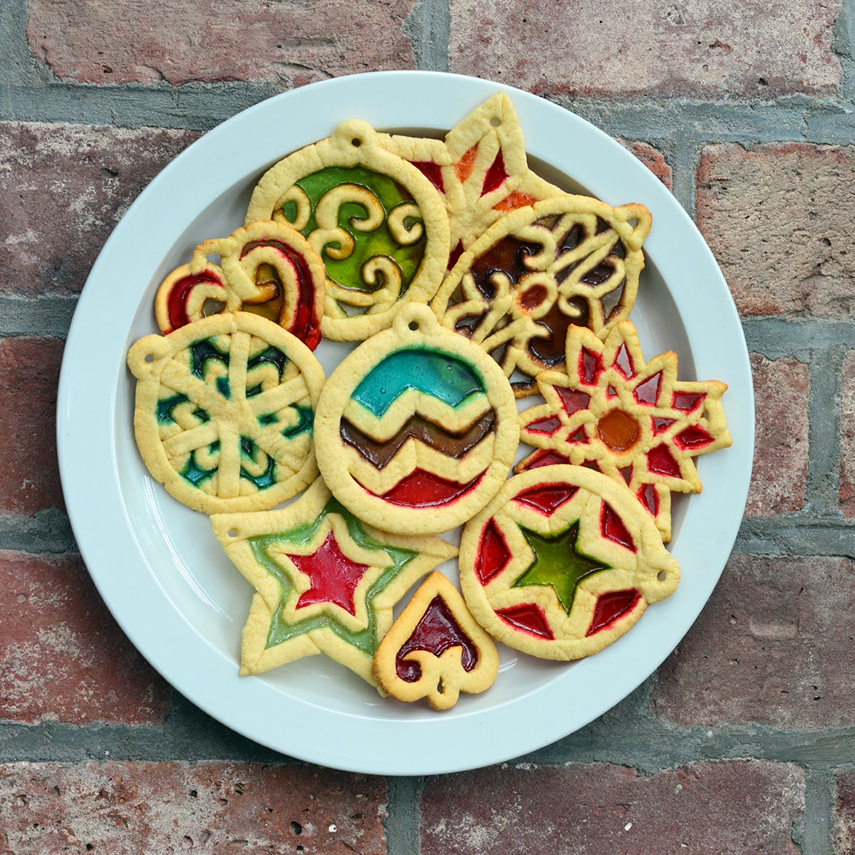 so i make stuff stained glass cookies