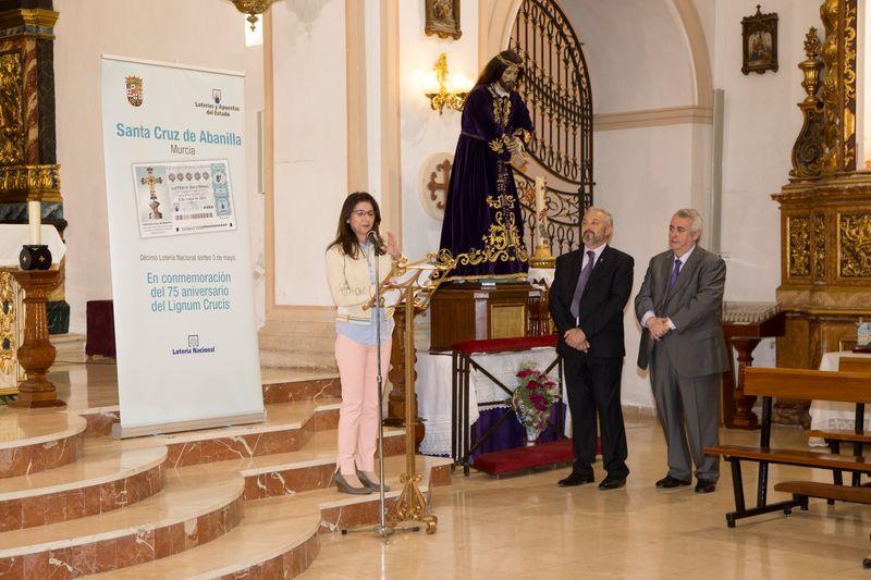 Presentación del Décimo de Lotería Nacional con la imagen de la Santa Cruz
