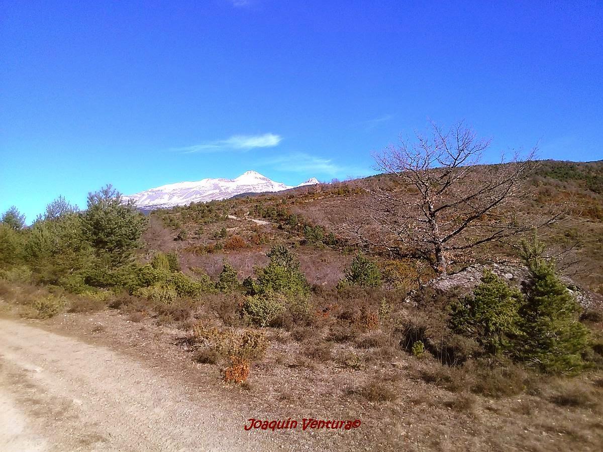 Camino de subida a Santa María de Trujillo en Castiello de Jaca