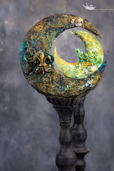 Mixed Media twins moon