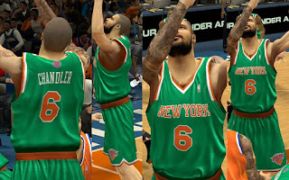 NBA 2K13 Knicks Saint Patrick's Day Jersey