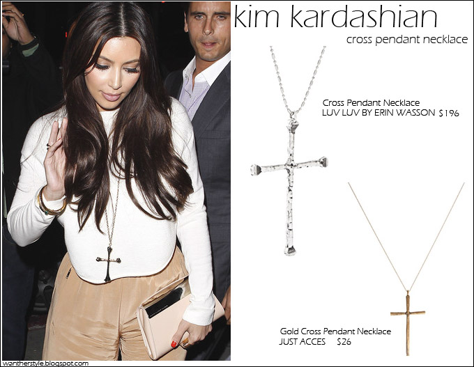 Long cross pendant necklace images long cross pendant necklace images copy her look kim kardashian with cross pendant necklace i jpg aloadofball Choice Image