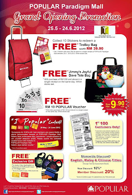 POPULAR Paradigm Mall Grand Opening Promotion