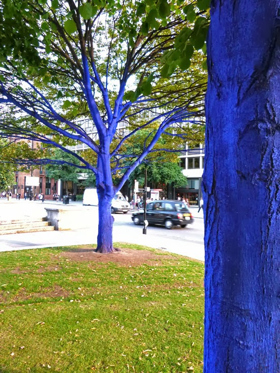 Urban trees, London, blue trees, trees for cities, Konstantin Dimopoulus