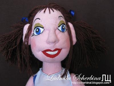 Синеглазка. Текстильная кукла