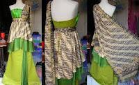 Desain Batik Dress Pesta