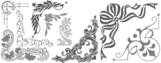 Decorative border font shreel52