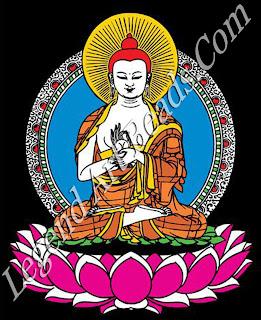 Buddha in dharmacakramundra