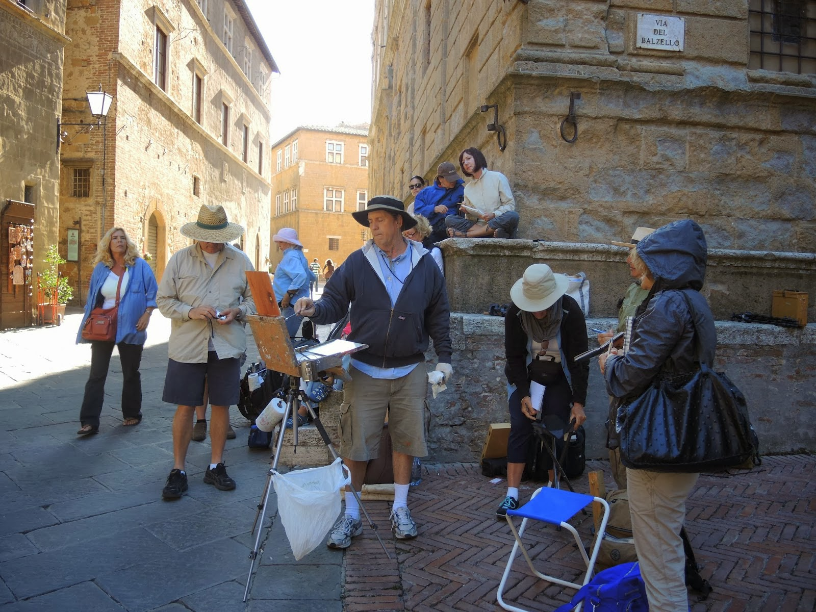 Carole Gray-Wiehman, Mark Fehlman, Ray Roberts in Plein Air Liaison Italy Workshop